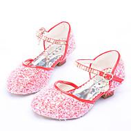 baratos Sapatos de Menina-Para Meninas Sapatos Couro Ecológico Verão Inovador / Sapatos para Daminhas de Honra Saltos Pedrarias / Presilha para Prata / Vermelho /