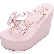 cheap Slippers-Ordinary Slippers Women's Slippers Polyester PVC solid color