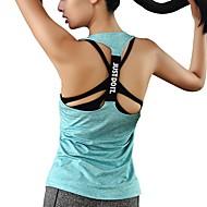 Dames Hardloopshirt Groen Blauw Roze Sport Effen Singlet Oefeningen Buitenshuis Meerdere Sporten Mouwloos Sportkleding Ademend Rekbaar