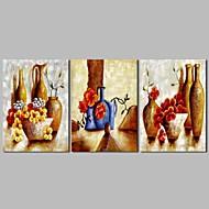 baratos -Pintura a Óleo Pintados à mão - Abstrato Vida Imóvel Vintage Tela de pintura