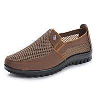 baratos Sapatos Masculinos-Homens Mocassim Tule Primavera / Verão Mocassins e Slip-Ons Cinzento / Café