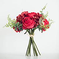 billiga Heminredning-Konstgjorda blommor 1 Gren Bröllop / Europeisk Stil Roser / Hortensior / Plantor Bordsblomma