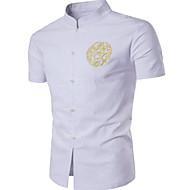 Herre-Geometrisk Simple Skjorte
