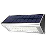 billige Utendørs Lampeskjermer-1pc 10W Wall Light Solar Vanntett Radar Sensor Lysstyring Dekorativ Utendørsbelysning Hvit DC3.7V