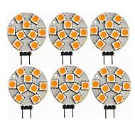 baratos Luzes LED de Dois Pinos-SENCART 6pcs 1.5W 270lm G4 Luminárias de LED  Duplo-Pin T 9 Contas LED SMD 5050 Decorativa Branco Quente 12V / CE