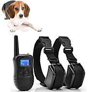 Kutyák Ugatásgátló nyakörv Szöges nyakörvek Vízálló Újratölthető Vibráló Mikro-elektromos ütés Nem ártalmas a kutyákra és más háziállatokra Műanyagok Műanyag Fekete