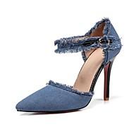 baratos Sapatos Femininos-Mulheres Sapatos Jeans Primavera / Verão Inovador / D'Orsay Saltos Salto Agulha Dedo Apontado Presilha / Mocassim Preto / Azul Escuro /