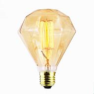 baratos Incandescente-espiral bar porta pingente de decoração da lâmpada fonte g95 diamante fio reto grande retro luz (40w e27)
