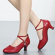 baratos Sapatilhas de Dança-Mulheres Sapatos de Dança Latina / Sapatos de Jazz / Sapatos de Samba Glitter / Pele Sandália / Salto / Têni Cristal / Strass / Adorno /