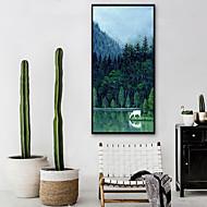 billige Innrammet kunst-Landskap Dyr Tegning Veggkunst, Plastikk Materiale med ramme For Hjem Dekor Rammekunst Stue