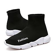 baratos Sapatos de Menina-Para Meninos / Para Meninas Sapatos Tricô / Tule Primavera / Verão Conforto / Solados com Luzes Tênis Corrida para Preto / Vermelho