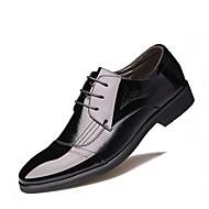 baratos Sapatos Masculinos-Homens Sapatos de vestir Pele Napa / Couro Ecológico Primavera / Verão Conforto Oxfords Caminhada Preto