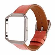 billiga Smart klocka Tillbehör-Klockarmband för Fitbit Blaze Fitbit Läderloop Äkta Läder Handledsrem