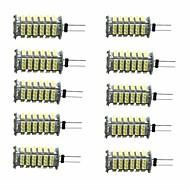 billige Bi-pin lamper med LED-10pcs 3W 350lm G4 LED-lamper med G-sokkel T 1 LED perler SMD 3528 Dekorativ Varm hvit Kjølig hvit 12V