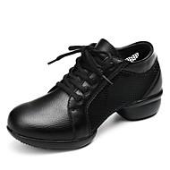 baratos Sapatilhas de Dança-Mulheres Tênis de Dança Couro de Gado Têni Salto Robusto Personalizável Sapatos de Dança Branco / Preto / Vermelho / Interior