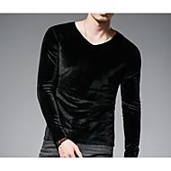 Majica s rukavima Muškarci Dnevno Jednobojni Okrugli izrez / Dugih rukava
