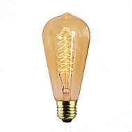 billige Glødelampe-1pc e27 40w ac220-240v 2300k st64 120lm glødelampe
