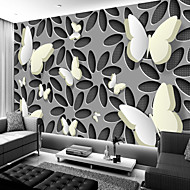 cheap Wallpaper-Art Deco Pattern 3D Home Decoration Vintage Modern Wall Covering, Canvas Material Adhesive required Mural, Room Wallcovering