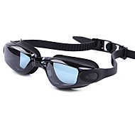 billiga Swim Goggles-Simglasögon Anti-Dimma Anti - Slit Justerbar storlek Anti-UV Reptåligt Stöttålig Anti-halk band Vattentät Kiselgel PC Röd Svart Blå