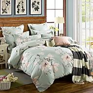 billige Blomstrete dynetrekk-Sengesett Blomstret Polyester / Bomull Mønstret 3 deler