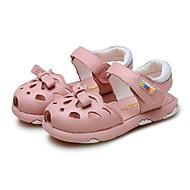 tanie Obuwie dziewczęce-Dla dziewczynek Buty Nappa Leather Lato Comfort Sandały Tasiemka na Casual Formalne spotkania White Różowy