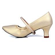 billige Kustomiserte dansesko-Dame Moderne sko TPU / Kunstlær Høye hæler Spenne Kubansk hæl Kan spesialtilpasses Dansesko Beige / Trening