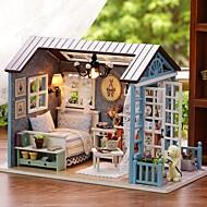 Doll House DIY Miniature Dollhouse Model Oyuncak Hračky Vynikající Romantika Půvab Pieces Narozeniny Dárek