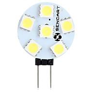 billige Bi-pin lamper med LED-SENCART 1pc 1.5 W 60-80 lm G4 LED-lamper med G-sokkel T 6 leds SMD 5050 Dekorativ Varm hvit Hvit 12V