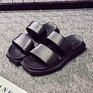 tanie Pantofle-Pantofle męskie Pantofle Zwyczajny Skóra PVC Jeden kolor
