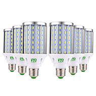 billige Kornpærer med LED-YWXLIGHT® 6pcs 35W 3500lm E26 / E27 LED-kornpærer 108 LED perler SMD 5730 Dekorativ Varm hvit Kjølig hvit Naturlig hvit 85-265V