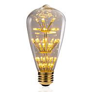 billige Globepærer med LED-BRELONG® 1pc 3W 300 lm E26/E27 LED-globepærer 47 leds SMD Stjernefull Dekorativ Gul 220V-240V