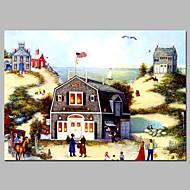 billiga Väggkonst-Stretchad Kanvastryck Traditionell, En panel Duk Horisontell Tryck väggdekor Hem-dekoration