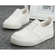 cheap Girls' Shoes-Girls' Boys' Shoes Canvas Spring Fall Comfort Sneakers for Casual White Black Brown