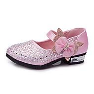 baratos Sapatos de Menina-Para Meninas Sapatos Courino Primavera / Outono Conforto / Sapatos para Daminhas de Honra Saltos Pedrarias / Laço / Gliter com Brilho para