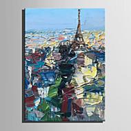 voordelige -Hang-geschilderd olieverfschilderij Handgeschilderde - Abstract Landschap Modern Kangas