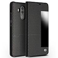 billiga Mobil cases & Skärmskydd-fodral Till Huawei Mate 10 Stötsäker med fönster Lucka Fodral Ensfärgat Hårt Äkta Läder för Mate 10