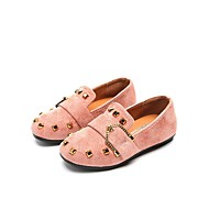 cheap Girls' Shoes-Girls' Shoes PU Leather Spring Summer Comfort Flats Rivet for Casual Dress Black Pink