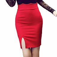 女性用 ストリートファッション ペンシルベイト スカート - ソリッド カラーブロック