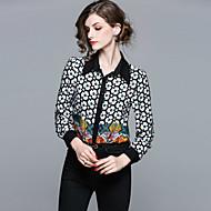 Dame Gade Skjorte - Geometrisk, Trykt mønster Krave