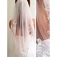 ชั้นเดียว สไตล์สมัยใหม่ / การแต่งงาน / สไตล์เรียบง่าย ผ้าคลุมหน้าชุดแต่งงาน Elbow Veils กับ ตะเข็บ / Splicing ลูกไม้ / Tulle / Angel cut / Waterfall