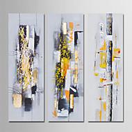 billige -Hang malte oljemaleri Håndmalte - Abstrakt Moderne Lerret