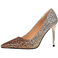 cheap Women's Heels-Women's Glitter Spring / Fall Gladiator / Basic Pump Heels Stiletto Heel Pointed Toe Sparkling Glitter Purple / Silver / Champagne / 3-4 / Party & Evening