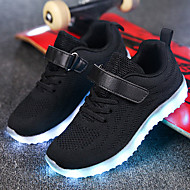 cheap Girls' Shoes-Boys' / Girls' Shoes Knit / Net Spring / Fall Comfort / Light Up Shoes Sneakers Walking Shoes Lace-up / Hook & Loop / LED for Gray / Blue