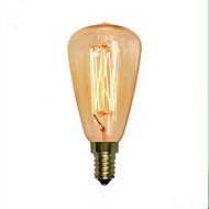 billige Glødelampe-1pc 40 W E14 ST48 Varm hvit 2300 k Kontor / Bedrift / Dekorativ Glødende Vintage Edison lyspære 220-240 V