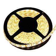 kwb waterproof 5m 72w 300 * 5050 smd 4800lm חם לבן אור הוביל רצועה מנורה (dc12v)