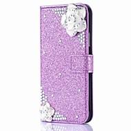 billiga Mobil cases & Skärmskydd-fodral Till Apple iPhone X / iPhone 8 / iPhone XS Plånbok / Korthållare / Strass Fodral Glittrig / Blomma Hårt PU läder för iPhone XS / iPhone XR / iPhone XS Max