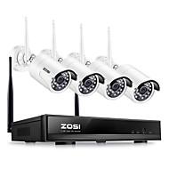 hesapli NVR Kitleri-Zosi® 4ch 1080 p hdmi wifi nvr 2.0mp güvenlik kamera sistemi ir açık su geçirmez cctv kamera kablosuz gözetleme sistemi