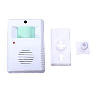 billige Dørklokkesystemer-905 Trådløs En til en dørklokke Ding dong Infrarød sensor Overflate Montert Ringeklokke