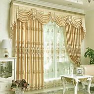 preiswerte Fensterdekoration-Gardinen Shades Wohnzimmer Blumen Baumwolle / Polyester Stickerei