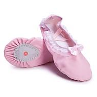 billige Ballettsko-Jente Ballettsko Lerret Flate Blonder Flat hæl Kan spesialtilpasses Dansesko Rosa / Innendørs / Trening